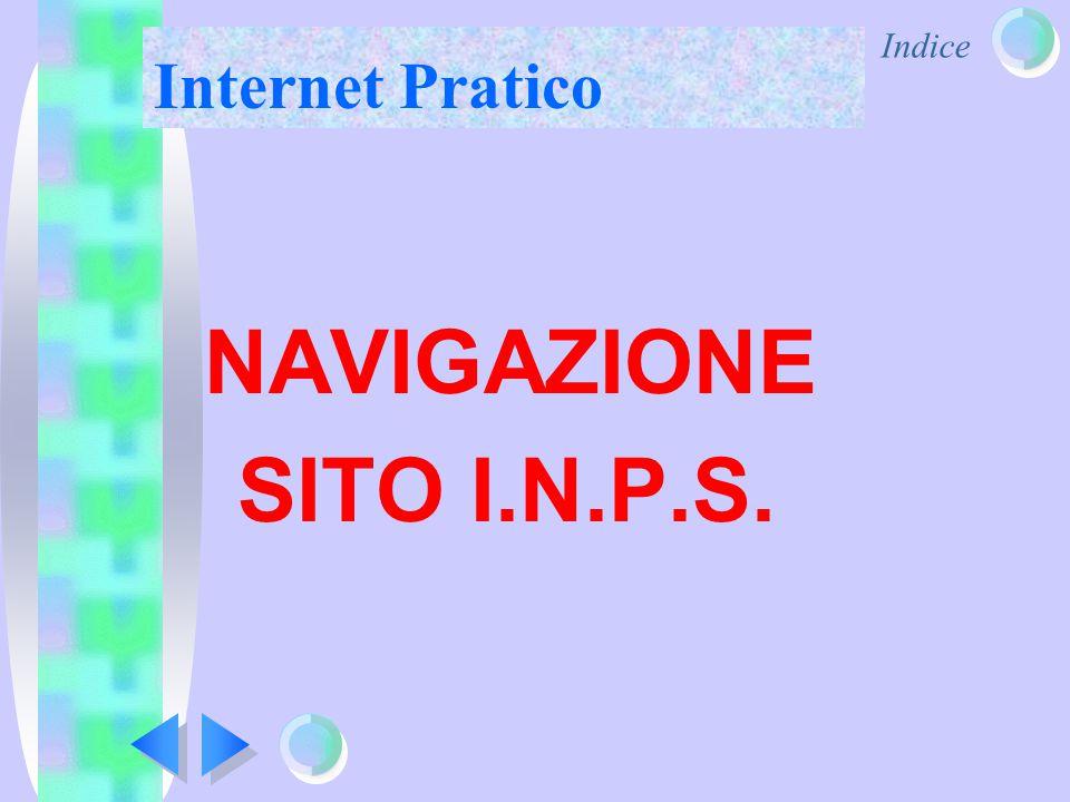 Indice Internet Pratico NAVIGAZIONE SITO I.N.P.S.