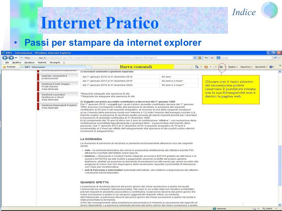 Indice Internet Pratico Passi per stampare da internet explorer