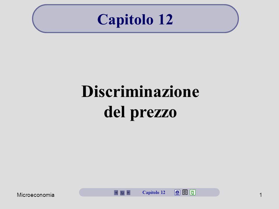 Microeconomia1 Discriminazione del prezzo Capitolo 12