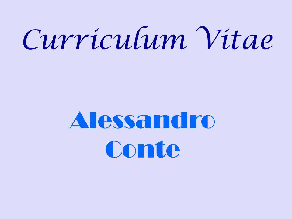 Curriculum Vitae Alessandro Conte