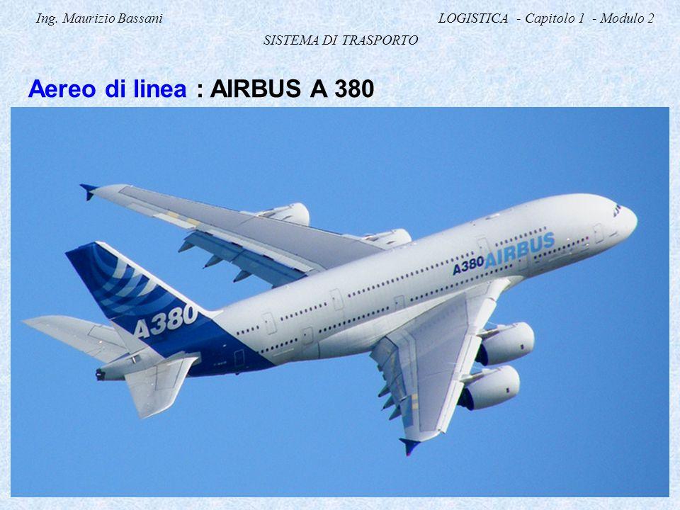 Ing. Maurizio Bassani LOGISTICA - Capitolo 1 - Modulo 2 SISTEMA DI TRASPORTO Aereo di linea : AIRBUS A 380