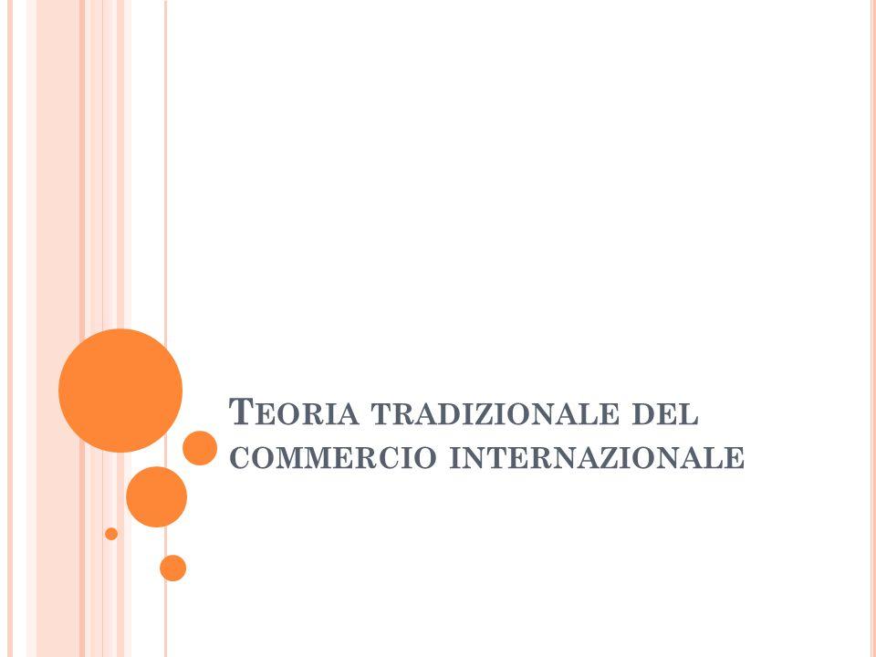 T EORIA TRADIZIONALE DEL COMMERCIO INTERNAZIONALE