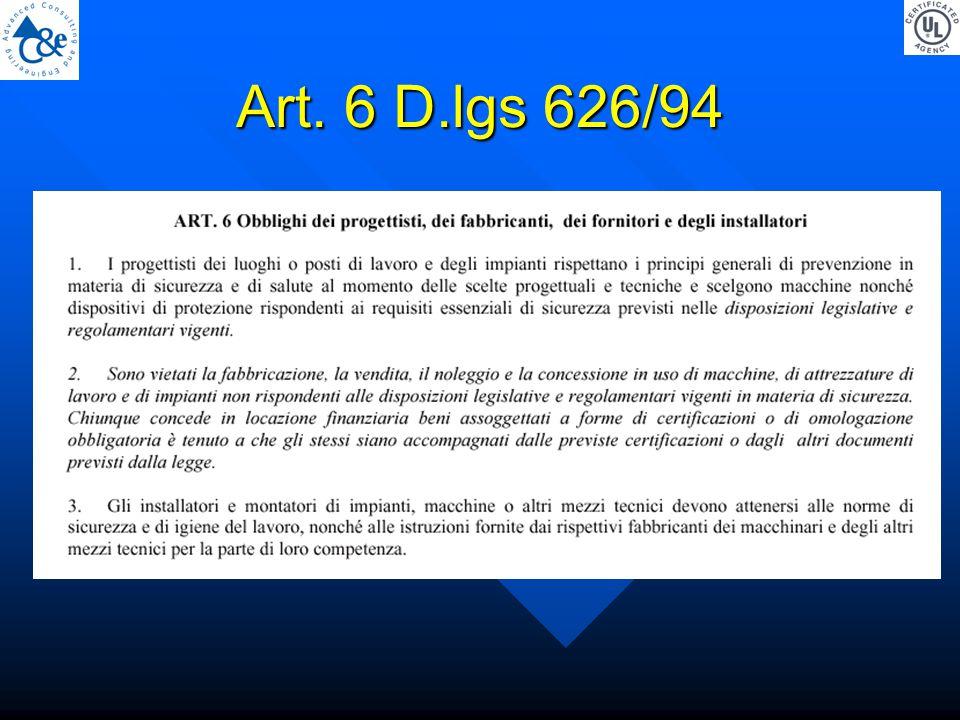 Art. 6 D.lgs 626/94