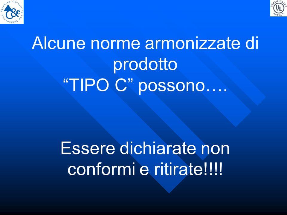 Alcune norme armonizzate di prodotto TIPO C possono….