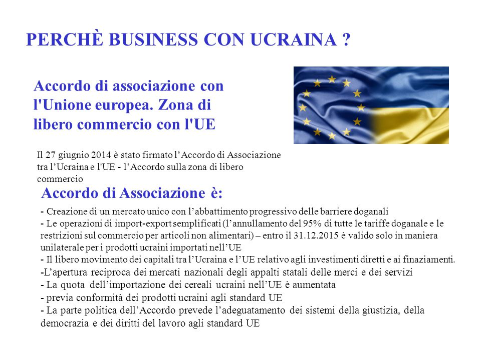 PERCHÈ BUSINESS CON UCRAINA.