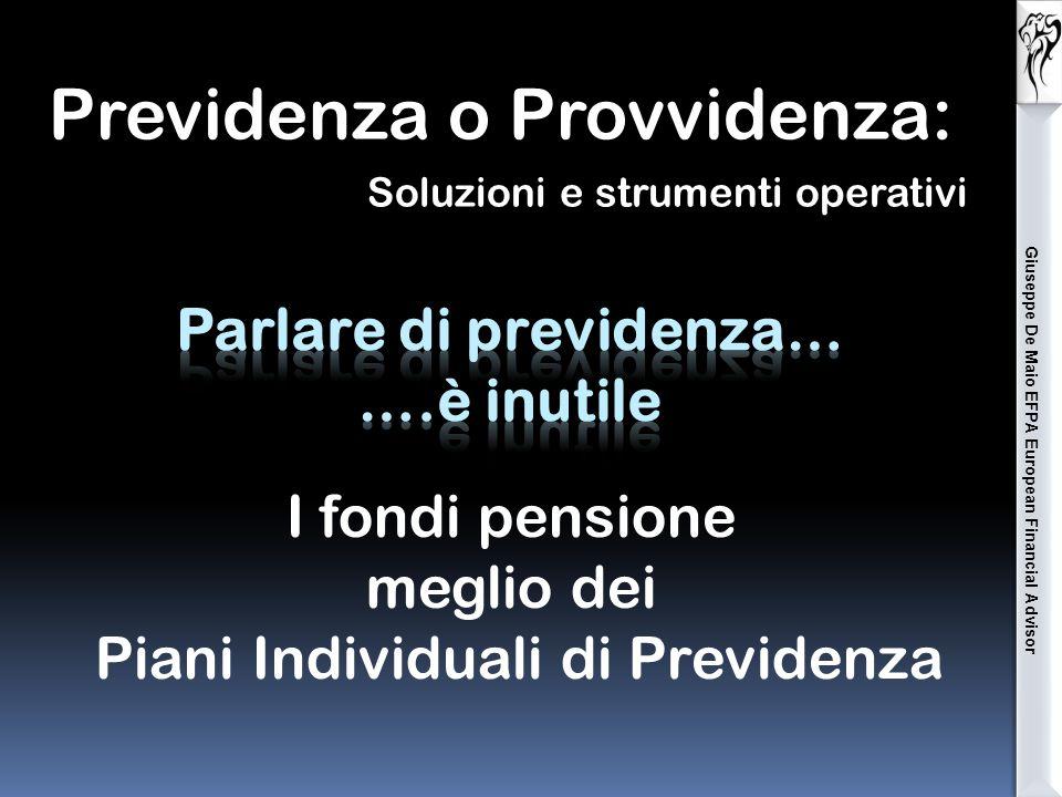 Giuseppe De Maio EFPA European Financial Advisor Gestire il patrimonio in tempo di crisi, un caso concreto.