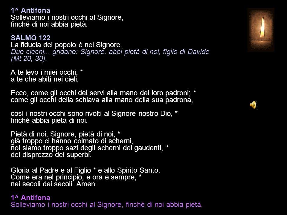15 DICEMBRE 2014 LUNEDÌ - III SETTIMANA DI AVVENTO VESPRI V.