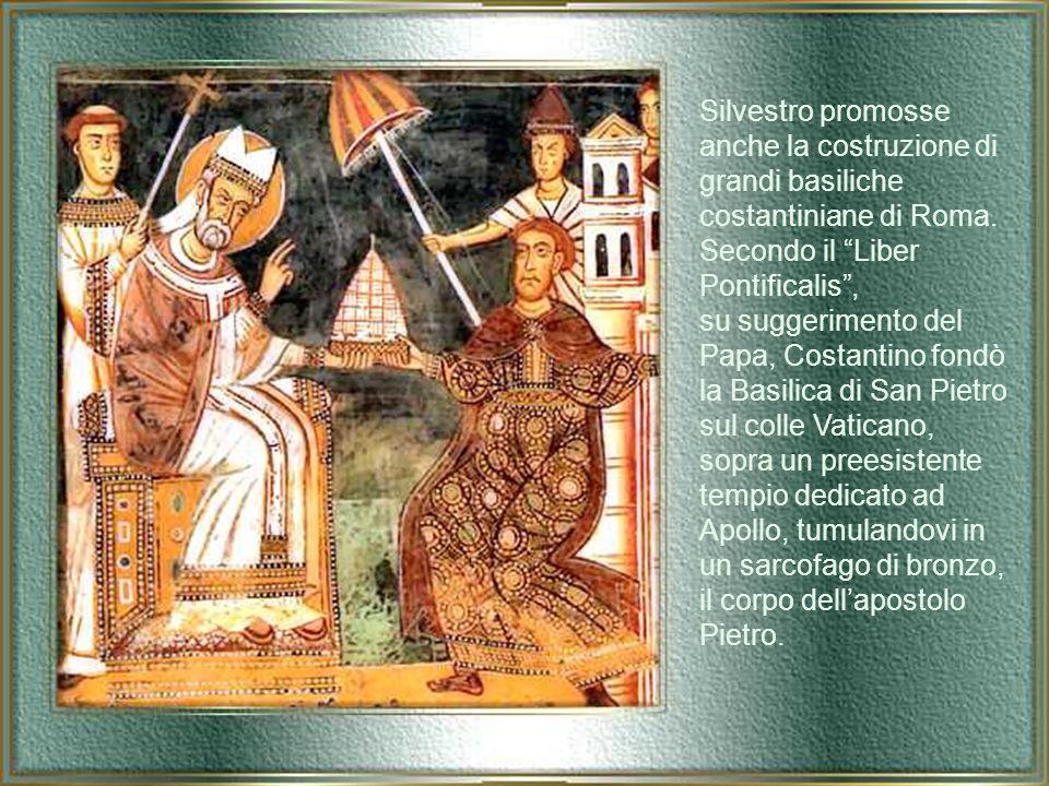Dopo la morte di Papa Milziade, Silvestro fu consacrato vescovo di Roma e il suo pontificato durò ventun anni, nell'epoca di passaggio fra le ultime persecuzioni e l'era di pace inaugurata da Costantino, ovvero nell'epoca di passaggio fra la Roma pagana e la Roma cristiana.