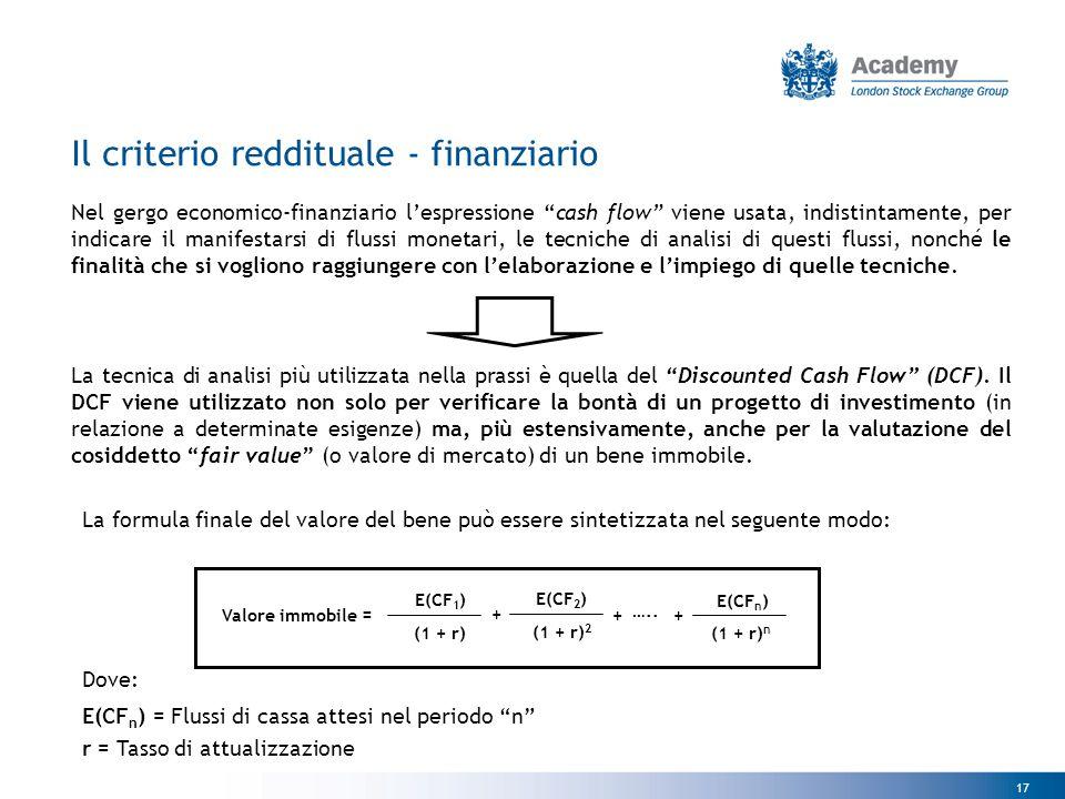 """17 Nel gergo economico-finanziario l'espressione """"cash flow"""" viene usata, indistintamente, per indicare il manifestarsi di flussi monetari, le tecnich"""