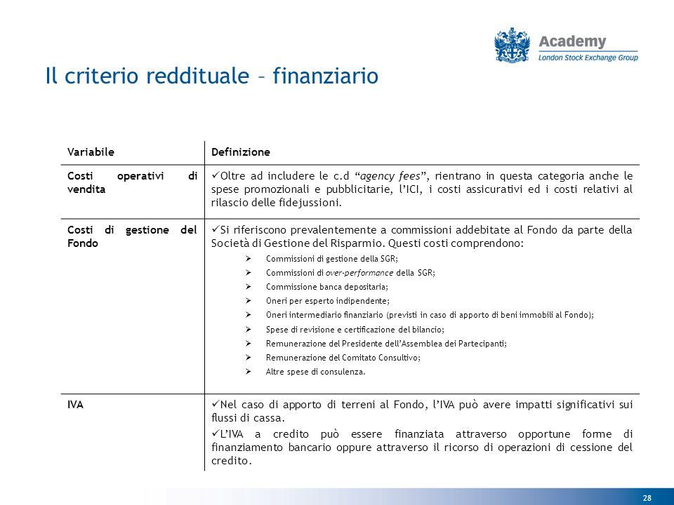 """28 VariabileDefinizione Costi operativi di vendita Oltre ad includere le c.d """"agency fees"""", rientrano in questa categoria anche le spese promozionali"""