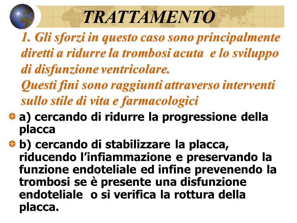 1. Gli sforzi in questo caso sono principalmente diretti a ridurre la trombosi acuta e lo sviluppo di disfunzione ventricolare. Questi fini sono raggi