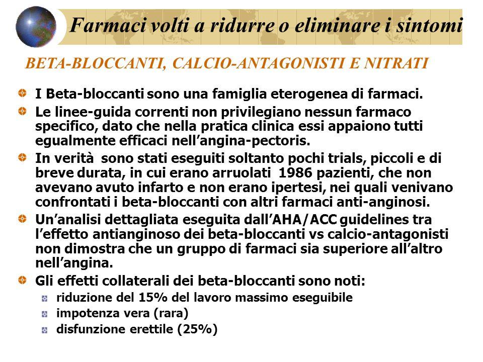 I Beta-bloccanti sono una famiglia eterogenea di farmaci.