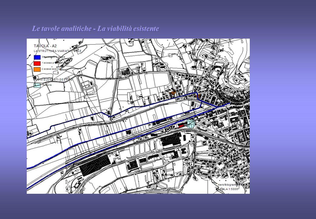 2.I VINCOLI URBANISTICI: - il confine - il triangolo ad est - l'accesso unico 1.