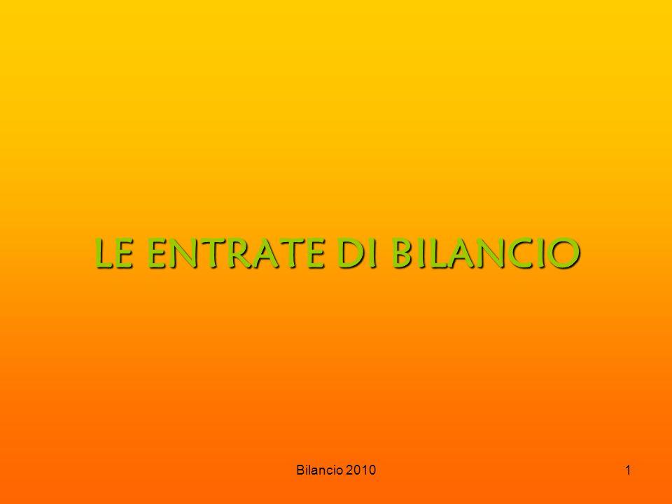 Bilancio 20102 ENTRATE  TRIBUTARIE € 836.711,00 ( ICI – IRPEF – RIFIUTI – AFFISSIONI – PUBBLICITA')  TRASFERIMENTI € 589.556,00 ( CORRENTI DA STATO – REGIONI – ENTI …)  EXTRATRIBUTARIE € 611.860,00 ( CONTRAVVENZIONI – AFFITTI – SERVIZI …)  ALIENAZIONI – RISCOSSIONI € 1.425.723,00 (VENDITA BENI – TRASFERIMENTI CAPITALI)  ACCENSIONE PRESTITI€ 1.451.000,00 (MUTUI)  SERVIZI C/TERZI € 454.590,00 (PARTITE DI GIRO) TOTALE € 5.369.440,00