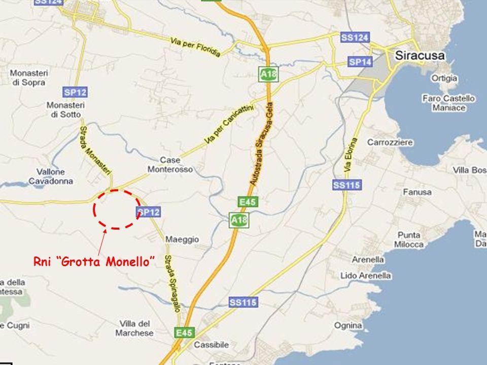 07/04/20154 Il perimetro attuale della Riserva coincide in linea di massima con quello del Sito di Importanza Comunitaria (S.I.C.) ITA090011 Grotta Monello (superficie di 63 ha) secondo quanto riportato nelle schede del Progetto BioItaly–Natura 2000.