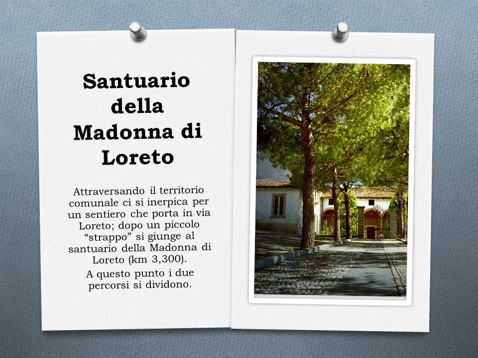 """Santuario della Madonna di Loreto Attraversando il territorio comunale ci si inerpica per un sentiero che porta in via Loreto; dopo un piccolo """"strapp"""