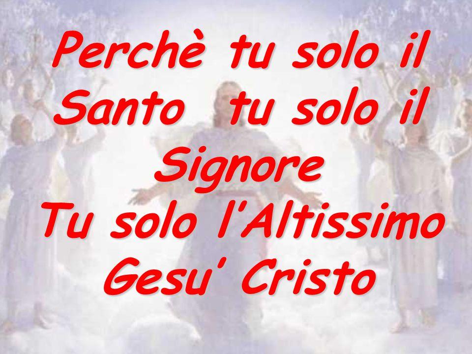 Perchè tu solo il Santo tu solo il Signore Tu solo l'Altissimo Gesu' Cristo