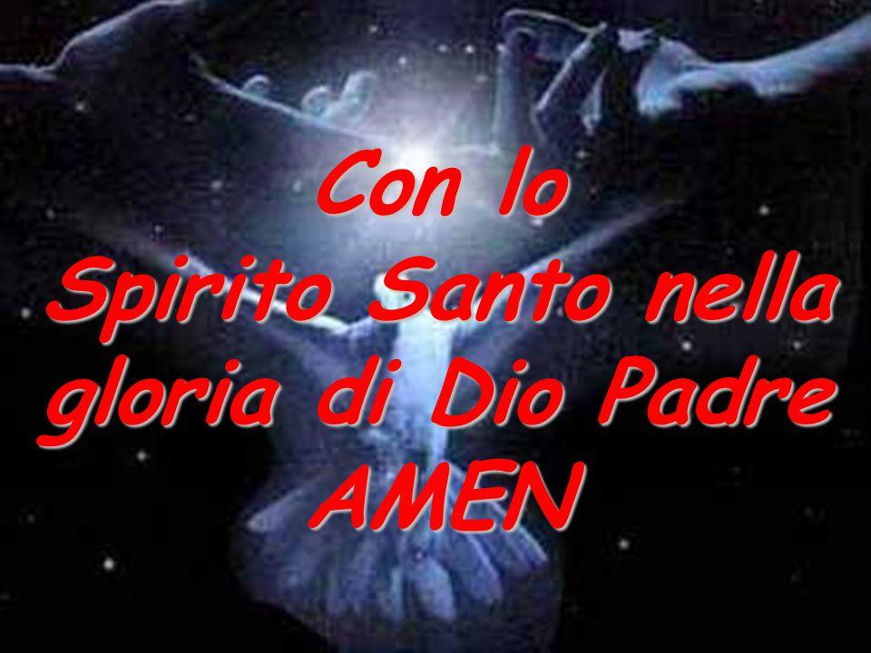 Con lo Spirito Santo nella gloria di Dio Padre AMEN