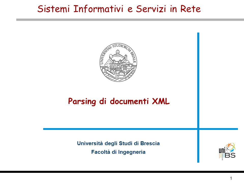 2 XML parsing Sistemi Informativi e Servizi in Rete Sommario Definizione e tipologie di parser XML Simple API for XML (SAX) Document Object Model (DOM)