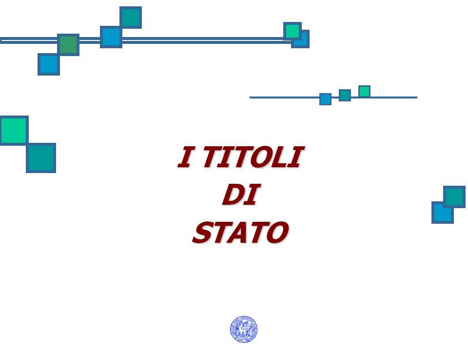 I TITOLI DISTATO