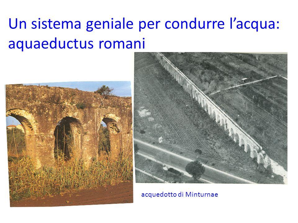 Un sistema geniale per condurre l'acqua: aquaeductus romani acquedotto di Minturnae
