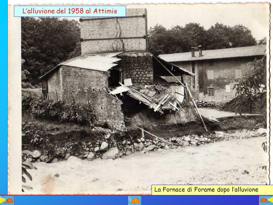 L'alluvione del 1958 al Attimis La Fornace di Forame dopo l'alluvione