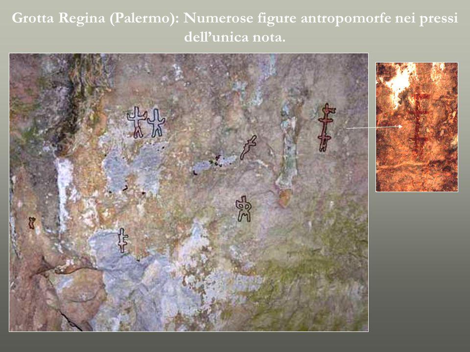 Grotta Regina (Palermo): Unica figura antropomorfa finora nota.