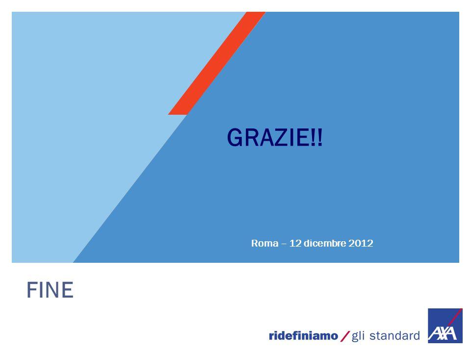 GRAZIE!! Roma – 12 dicembre 2012 FINE