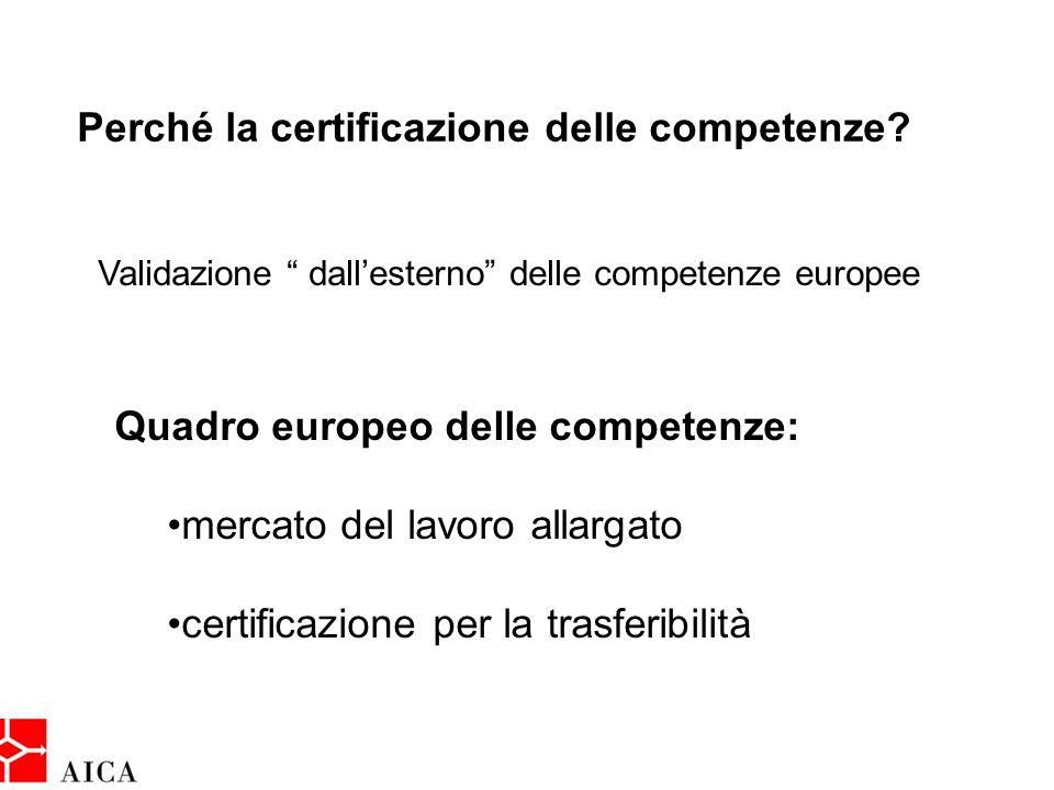 Perché la certificazione delle competenze.