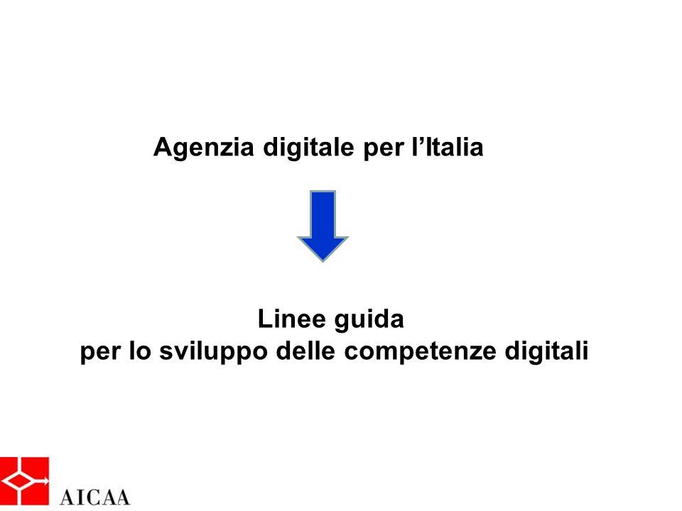 Agenzia digitale per l'Italia Linee guida per lo sviluppo delle competenze digitali