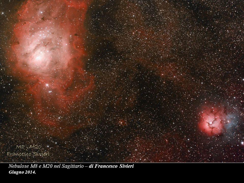 Nebulose M8 e M20 nel Sagittario – di Francesco Sivieri Giugno 2014.