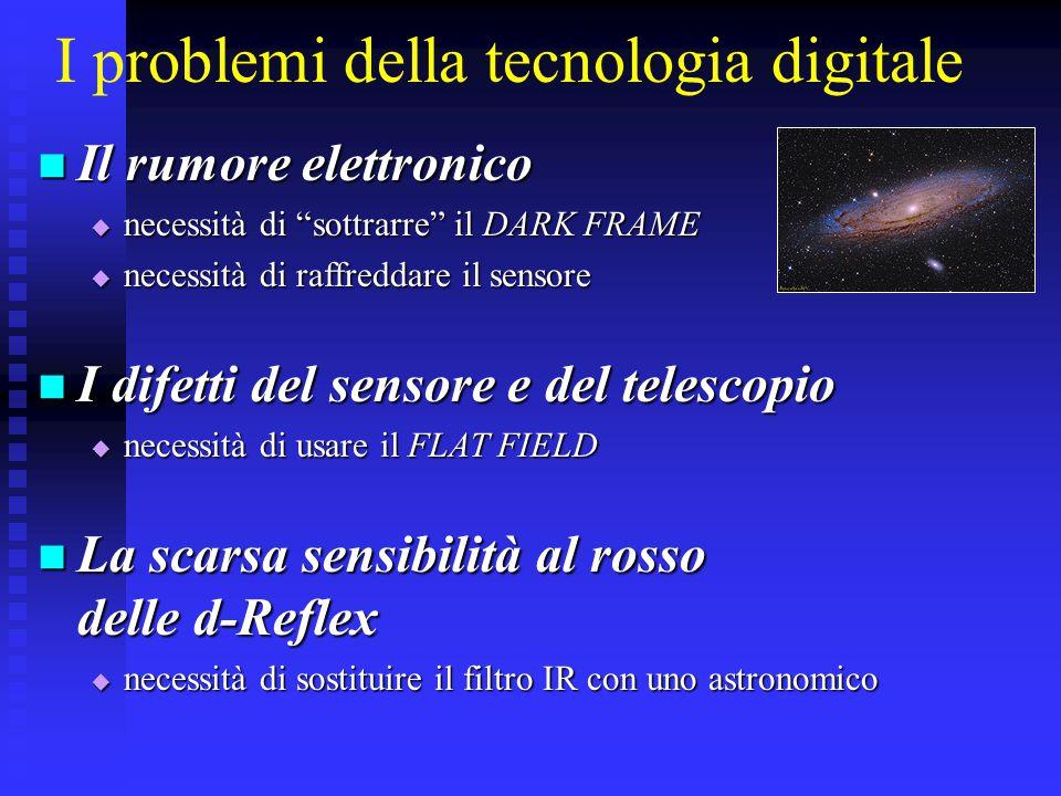 """I problemi della tecnologia digitale Il rumore elettronico Il rumore elettronico  necessità di """"sottrarre"""" il DARK FRAME  necessità di raffreddare i"""