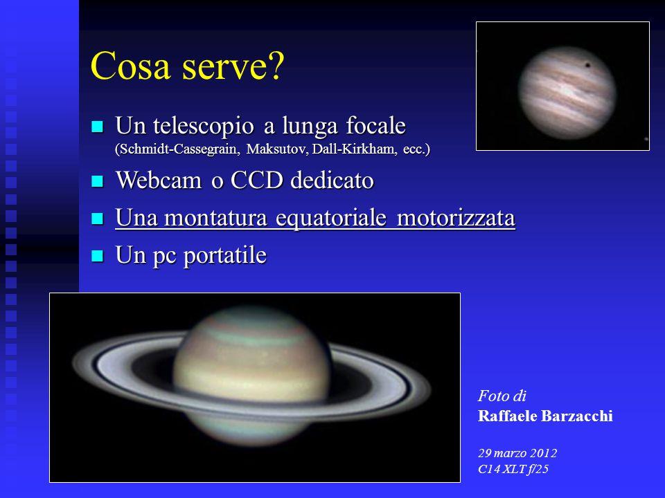 Cosa serve? Un telescopio a lunga focale (Schmidt-Cassegrain, Maksutov, Dall-Kirkham, ecc.) Un telescopio a lunga focale (Schmidt-Cassegrain, Maksutov