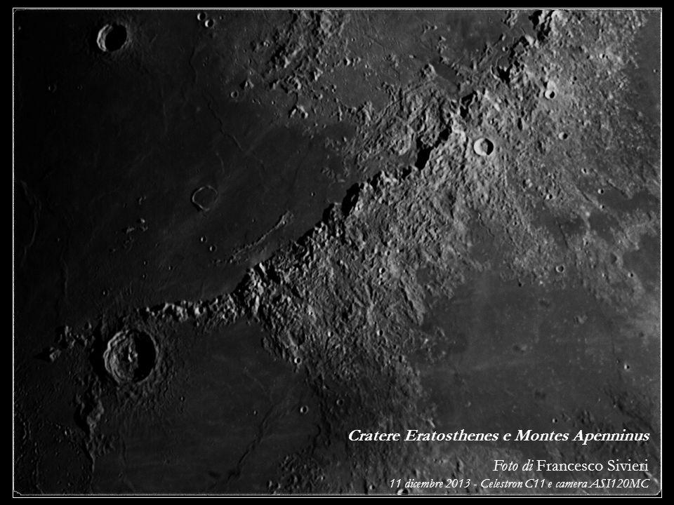 Cratere Eratosthenes e Montes Apenninus Foto di Francesco Sivieri 11 dicembre 2013 - Celestron C11 e camera ASI120MC