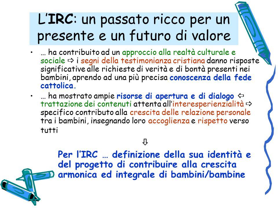 L'IRC in dialogo con la Riforma … condivisione delle Finalità (art.