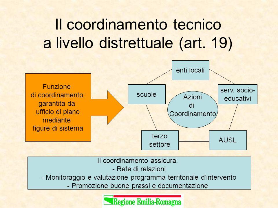Il coordinamento tecnico a livello distrettuale (art.