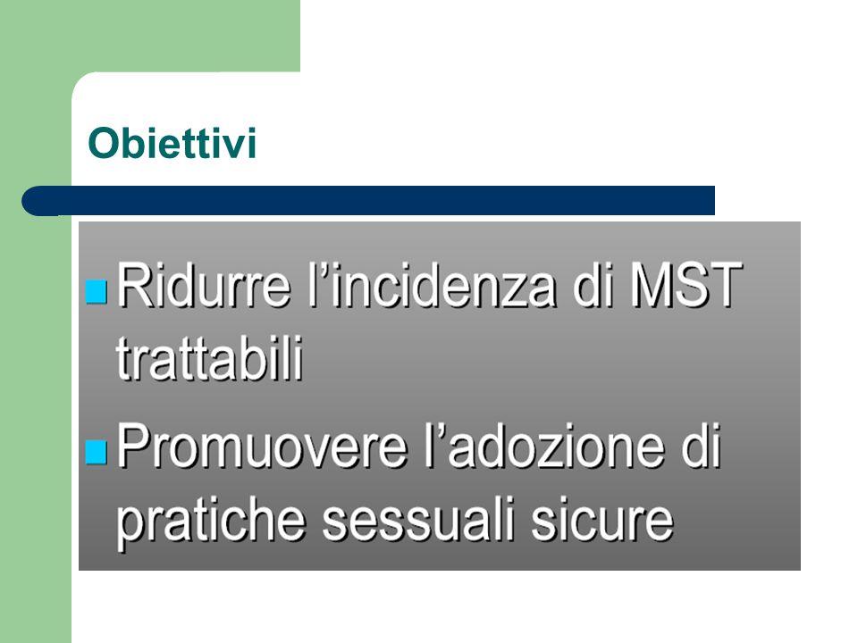 Creazione di una rete di centri clinici per la prevenzione, la diagnosi e la cura delle Infezioni Sessualmente Trasmesse utilizzando i servizi sanitari esistenti e adottando una strategia comune di lavoro.