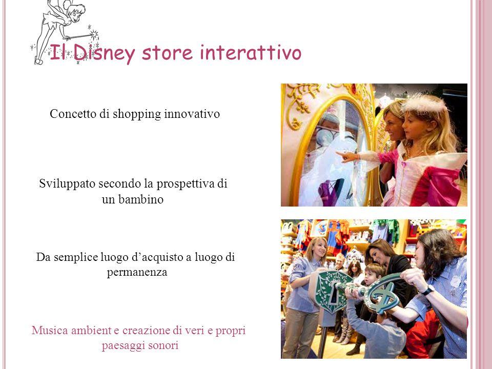 Da semplice luogo d'acquisto a luogo di permanenza Concetto di shopping innovativo Disney Store Theatre Sviluppato secondo la prospettiva di un bambin