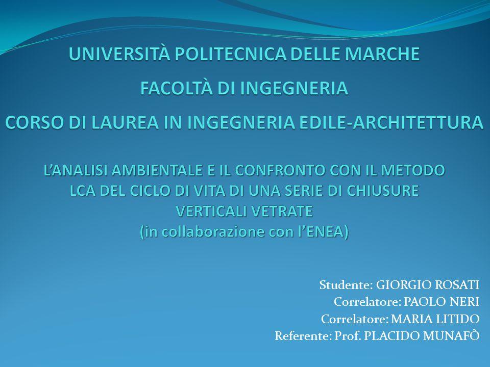 LCA ANALISI DI SENSIBILITÀ (10) CONFRONTO CON IMPACT 2002 DEI PROCESSI A PARITÀ DI VARIABILE.