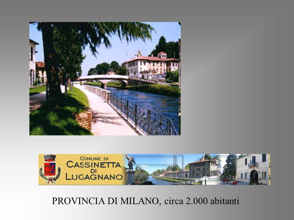 PROVINCIA DI MILANO, circa 2.000 abitanti