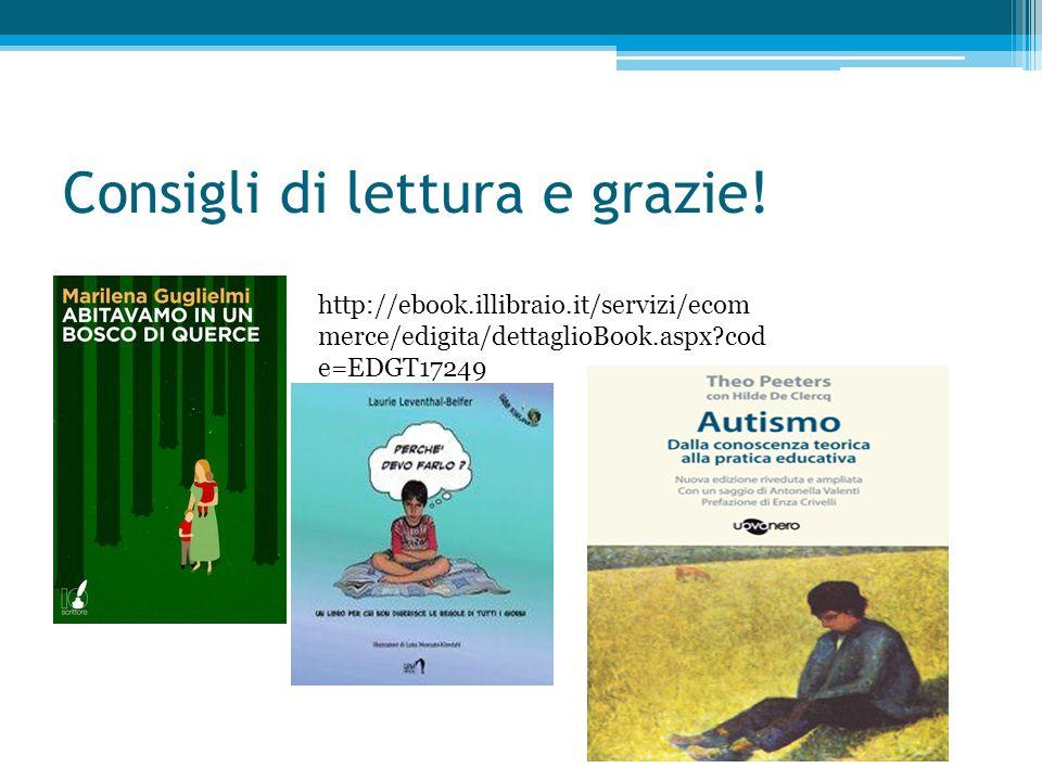 Consigli di lettura e grazie! http://ebook.illibraio.it/servizi/ecom merce/edigita/dettaglioBook.aspx?cod e=EDGT17249
