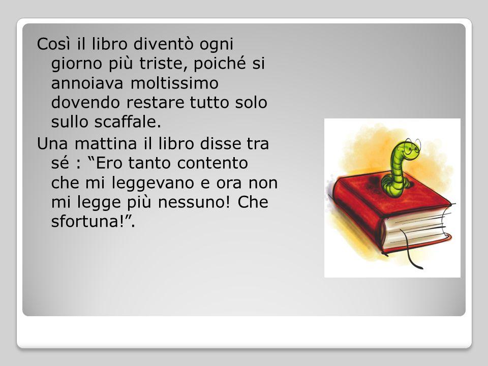 Proprio in quel momento entrò in biblioteca, attraverso una finestra rimasta aperta, un folletto del bosco, che andò davanti al libro e disse: Amico mio, non ti disperare.