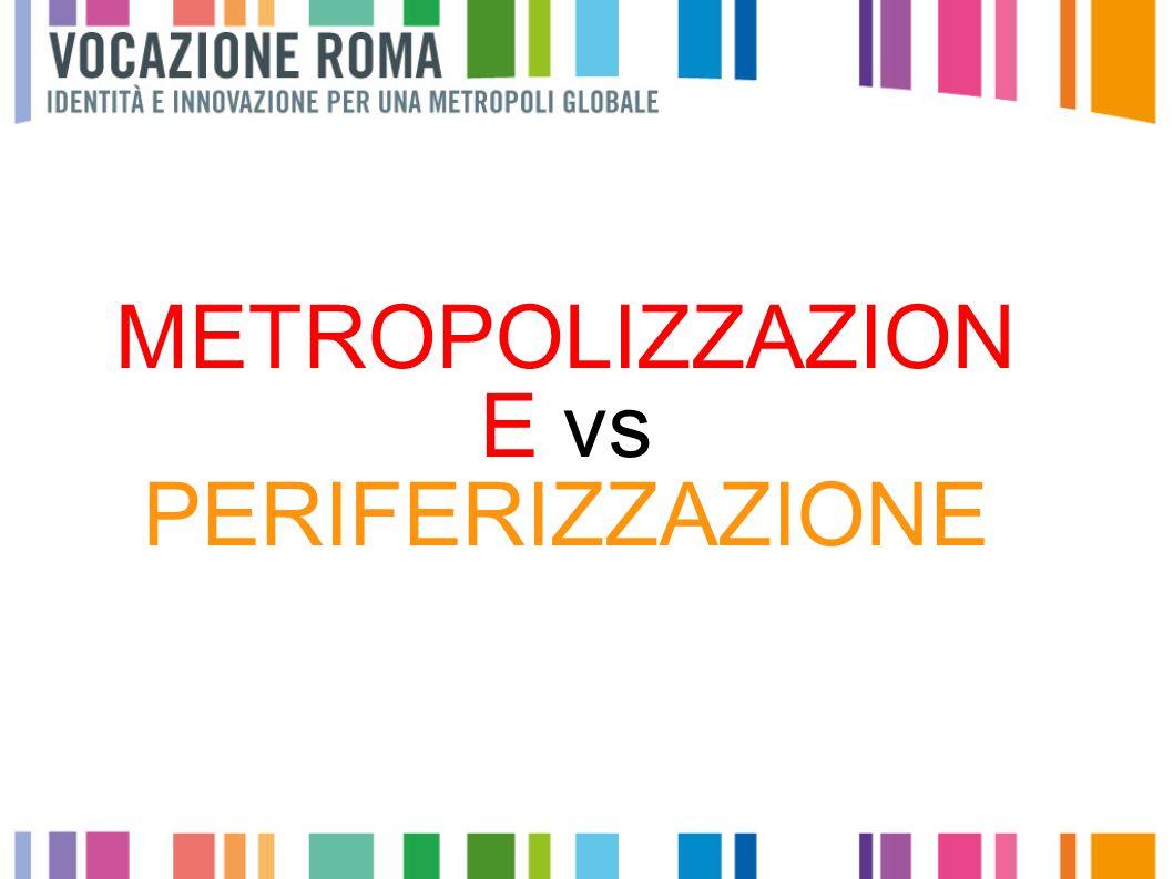 METROPOLIZZAZION E vs PERIFERIZZAZIONE