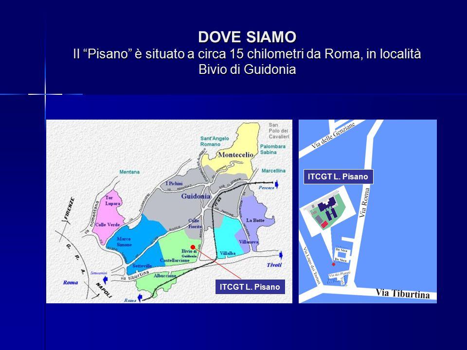 DOVE SIAMO Il Pisano è situato a circa 15 chilometri da Roma, in località Bivio di Guidonia ITCGT L.