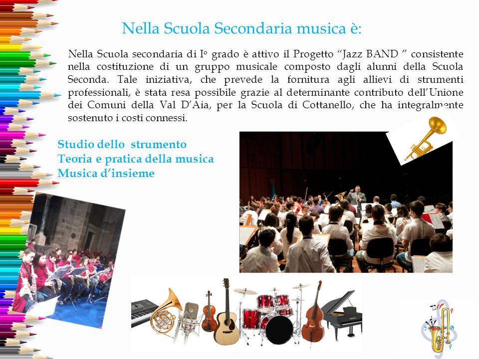 """Nella Scuola Secondaria musica è: Nella Scuola secondaria di I o grado è attivo il Progetto """"Jazz BAND """" consistente nella costituzione di un gruppo m"""