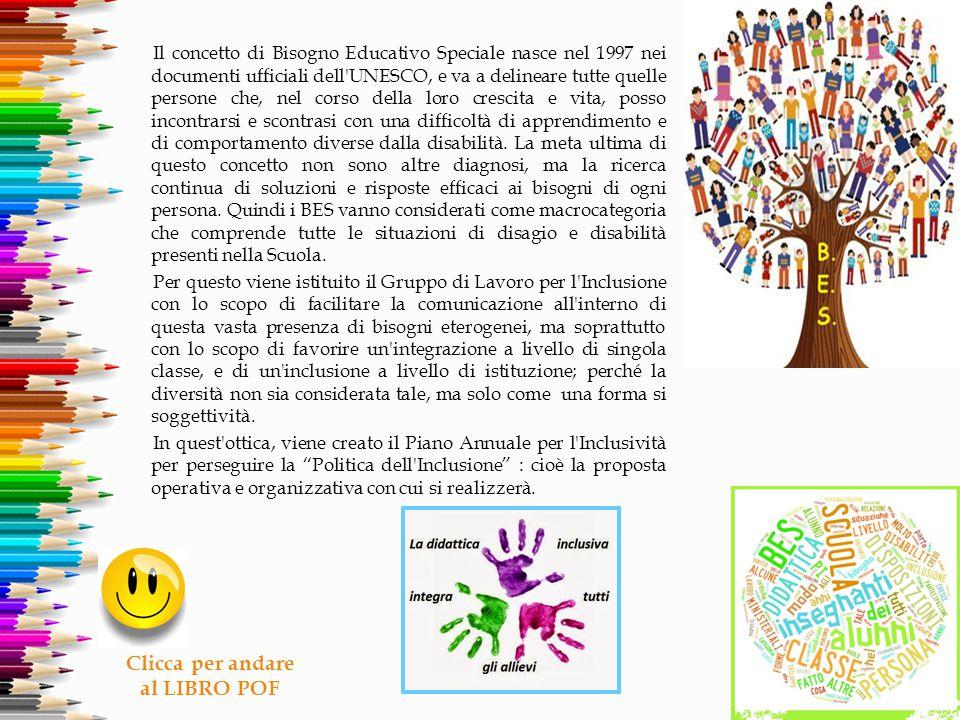 Il concetto di Bisogno Educativo Speciale nasce nel 1997 nei documenti ufficiali dell'UNESCO, e va a delineare tutte quelle persone che, nel corso del