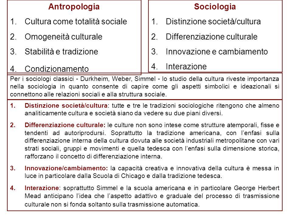 Talcott Parsons e il posto della cultura Dagli anni '30 agli anni '50 si assiste ad un declino dell'interesse sociologico per la cultura.