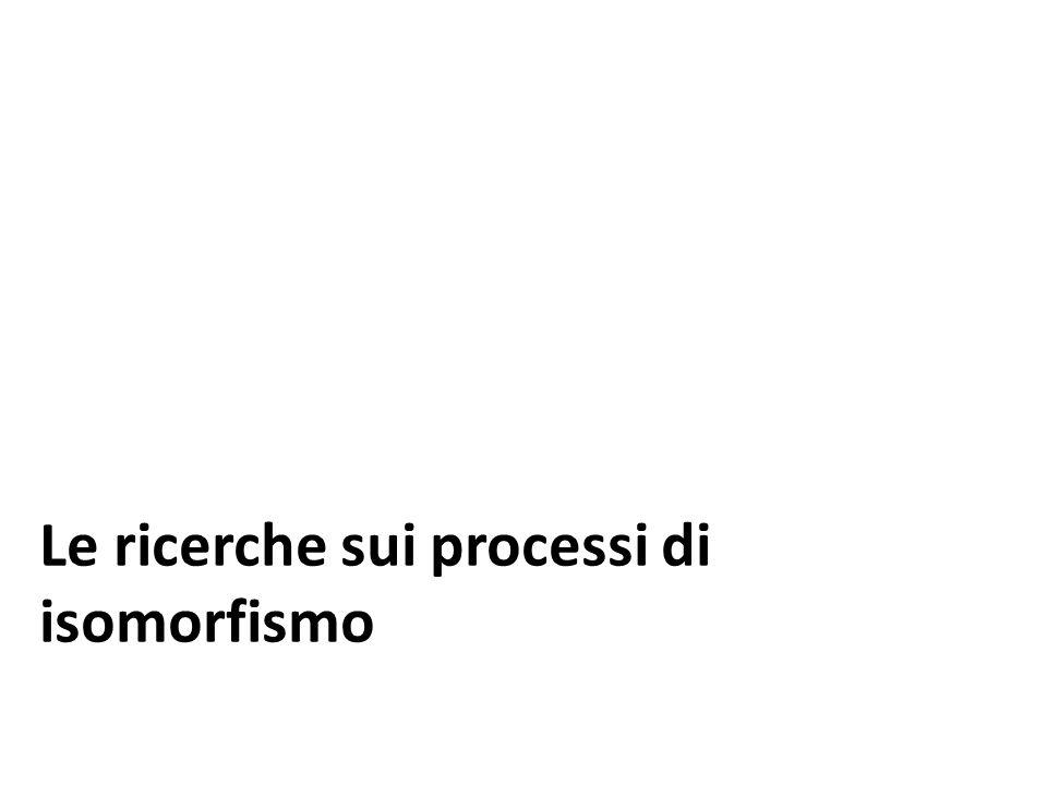 Le ricerche sui processi di isomorfismo