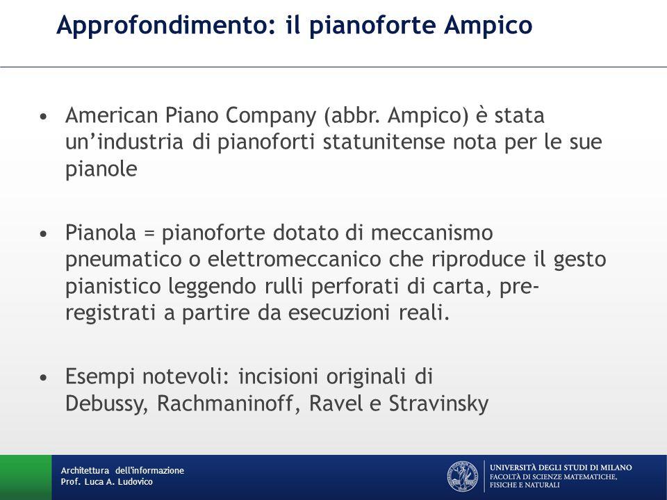 Approfondimento: il pianoforte Ampico American Piano Company (abbr.