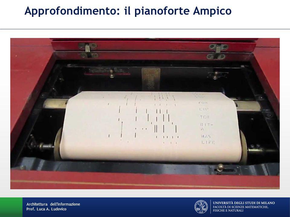 Approfondimento: il pianoforte Ampico Architettura dell informazione Prof. Luca A. Ludovico